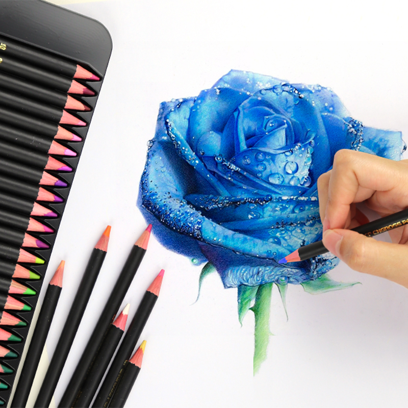 Lápices de colores de aceite profesional de 120 colores conjunto de lápices de acuarela dibujo de pintura de Color de madera lapis de arte - 3
