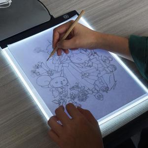 Kit de herramientas de accesorios de pintura de diamante de tablero de luz de pintura LED A4 A5 caja de tableta gráfica de dibujo