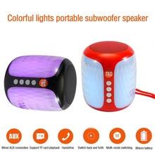 LED Mini Bluetooth Speaker Wireless Portable Subwoofer Column Loudspeaker