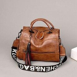 Bolso de mano para mujer de piel auténtica 2020, bolso de hombro de lujo a la moda para mujer, bolso de compras negro de gran capacidad