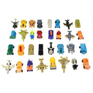 32 models of absorbing card changeable robot mini King Kong deformation car tank model toy Fans Bricks Keychain Bag Minecraft(China)