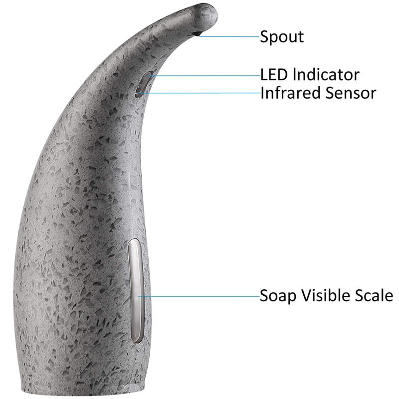 Hbee0fb77903843539a76e0e2eb3ad57aT 300ml Liquid Soap Dispenser Automatic Induction Foam Washing Hand Machine Kitchen Bathroom Tools Soap Dispenser Pump