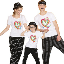 Family Matching Clothes New Family T Shirt Fitted Summer T-shirt Short Sleeve O-neck Family Look Matching Family Outfits 2019 недорого