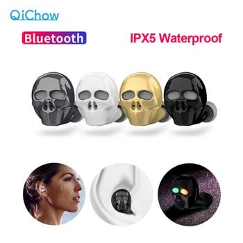 2020 New Skull Bone Bluetooth Earphone with Microphone Noise Cancelling Hi-Fi Handsfree Bass Stereo Mini Micro Earbud Earpiece