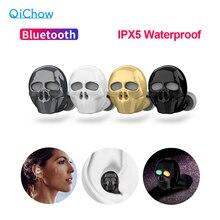 2020 neue Schädel Knochen Bluetooth Kopfhörer mit Mikrofon Noise Cancelling Hallo fi Freisprecheinrichtung Bass Stereo Mini Micro Ohrhörer Ohrhörer