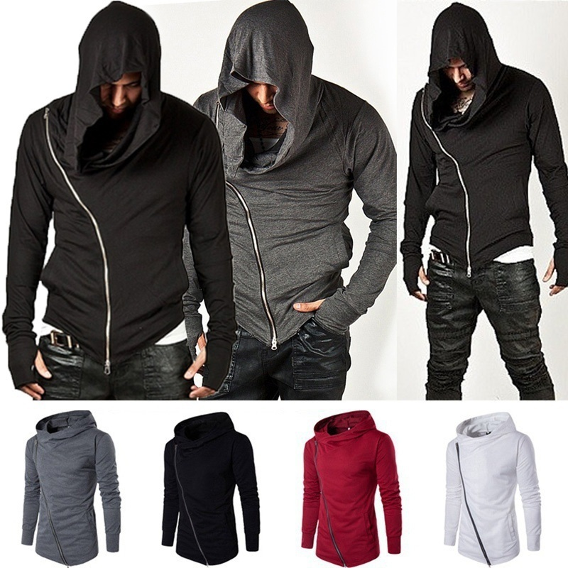 ZOGAA New Men Hoodie Sweatshirt Long Sleeved Slim Fit Male Zipper Hoodies Assassin Master Cardigan Creed Jacket Plus Size S-3XL