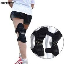 Aptoco, rodilleras transpirables antideslizantes para soporte de articulaciones, almohadillas para levantar la rodilla, almohadillas para el cuidado, potente refuerzo de la fuerza de resorte de la rodilla