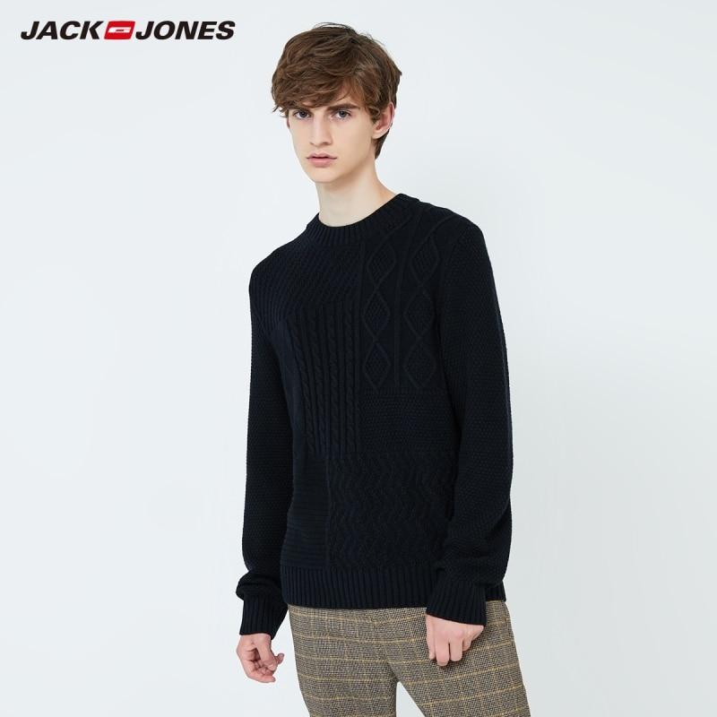 JackJones Men's Basic Style Solid Colour Sweater Knitwear 219324509