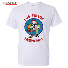 Mens Fashion Breaking Bad Shirt 2016 LOS POLLOS Hermanos T Chicken Brothers Short Sleeve Tee Hipster Hot Sale Tops
