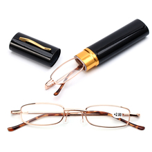 Reading-Glasses Case Vision-Care Portable Unisex with Pen-Tube Presbyopic