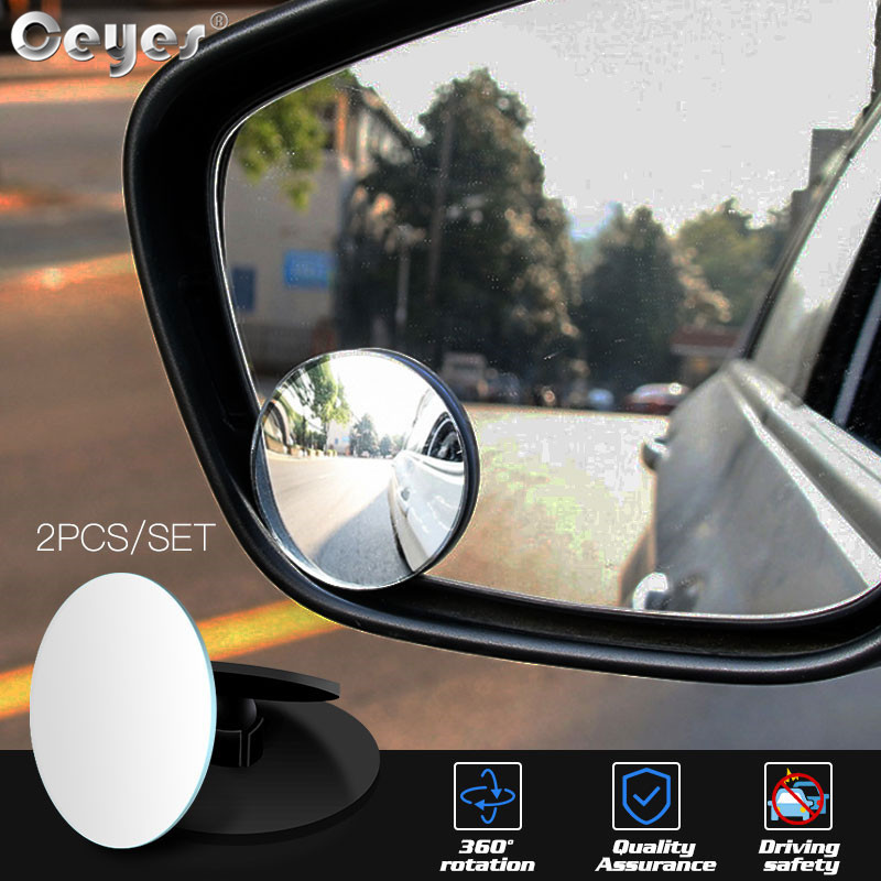 "2pcs x Car Self Adhesive 50mm 2/"" Dia Round Convex Rearview Blind Spot Mirror"