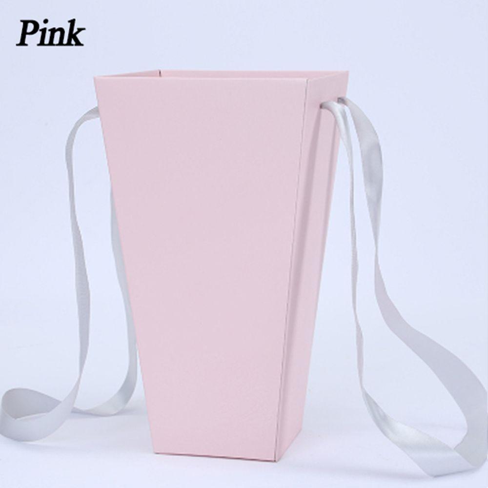 165*120 мм новые круглые бумажные коробки для цветов с крышкой, ведерко для цветов, подарочная упаковочная коробка, подарочные коробки для конфет, вечерние, Свадебные Поставки - Цвет: B(pink)