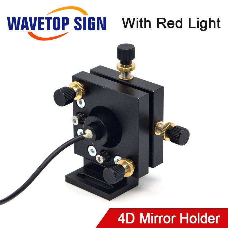 Red Light Indicator 4D Frame Adjusting Frame +Power Supply 5V 3A +Red Laser 12*36mm