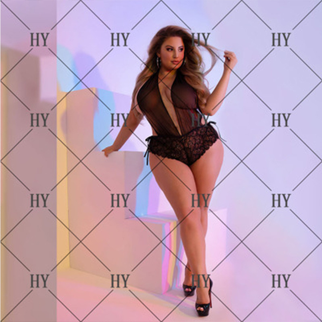 3XL- 5XL Hot Erotic Lace Lingerie for Women Sexy Underwear Porn Babydoll Dress Open Bra Crotch Sexy Lingerie Teddy Plus Size 4