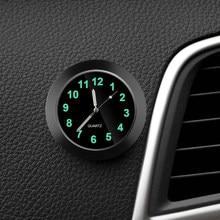 Mini-horloge lumineuse pour voiture, horloge numérique interne à coller, mécanique à Quartz, ornement automobile, accessoires de voiture
