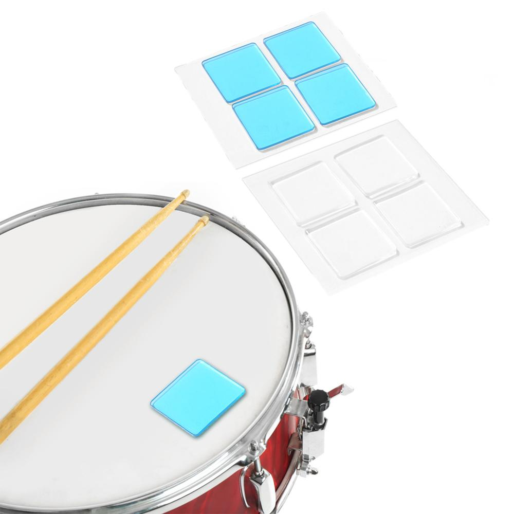 4pcs Drum Mute Pad Drum Damper Gel Pads Silicone Drums Muffler Mute Suits Percussion Instrument Accessories
