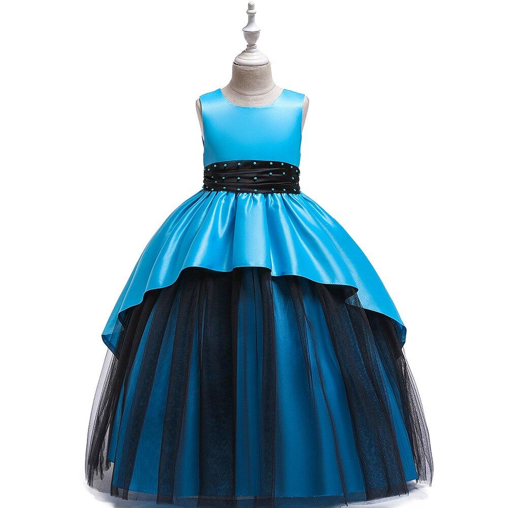 Big Boy Wedding Dress Princess Dress Formal Dress Long Girls Puffy Late Formal Dress Satin Mopping Long Skirts Little Girl Forma