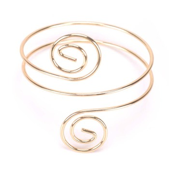 New Cool Alloy Wide Arm Bangle for Women Fashion Jewelry Plus Size Bracelets Silver Gold Punk Rock Bangles Lady Duftgold