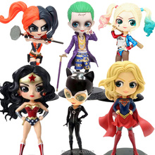 Q posket Wonder Woman Harley the Joker PVC Action Figure Superhero Model Anime Figurines Collectible Doll Kids Toys for Children