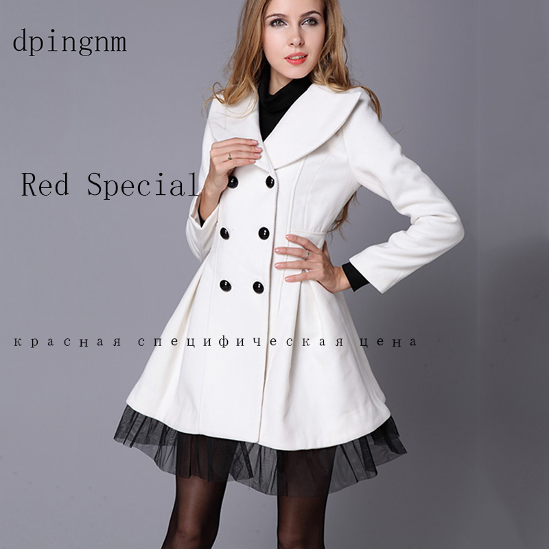 Double Breasted Wool Coat Women 2018 Fashion Winter Coat Women Dress Elegant Red White Black   Long Sleeve Ladies Woollen Coats spring outfits for kids