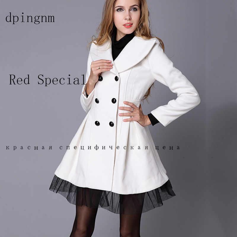 Abrigo de lana con doble botonadura, moda de invierno 2020