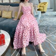 Fairy Clothes Moda Feminina Verao 2021 Vestido Backless Boho Sundresses Women Ruffle Cute Dress Korean Pink Free Shipping