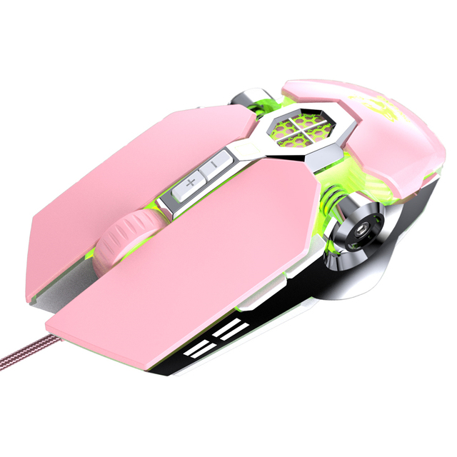 Wireless Mice Rechargeable Game Ergonomics Mouse Mute Liquid-cooled Shining Mechanical Mice 2400DPI With 7keys 3