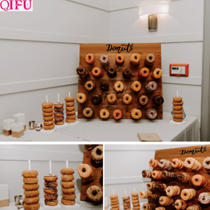 Image 5 - Soporte de pared de Donut para decoración de cumpleaños, suministros de fiesta de donuts, mesa de Decoración de cumpleaños, evento de boda para Baby shower