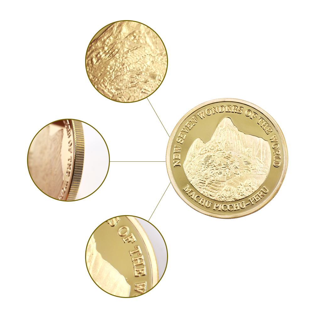 5pcs Gold Plated Commemorative Coin Panda Baby Collectible Coin Creative Gift