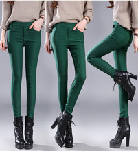 Top selling product in 2020 High quality cotton pants Women Autumn pants Padded warm pants Add wool Pencil pants Stretch 1635