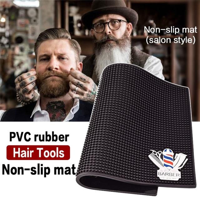 Anti skid pad per strumenti di Barbiere Barbiere push taglio scissores capelli asciugacapelli combl di visualizzazione della clip pad Barbiere accessori