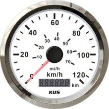 KUS 85mm uniwersalny Pulse prędkościomierz Milometer 120 KM/H 70MPH wskaźnik prędkości czerwony i żółty podświetlenie dostępny Pulse Sighal
