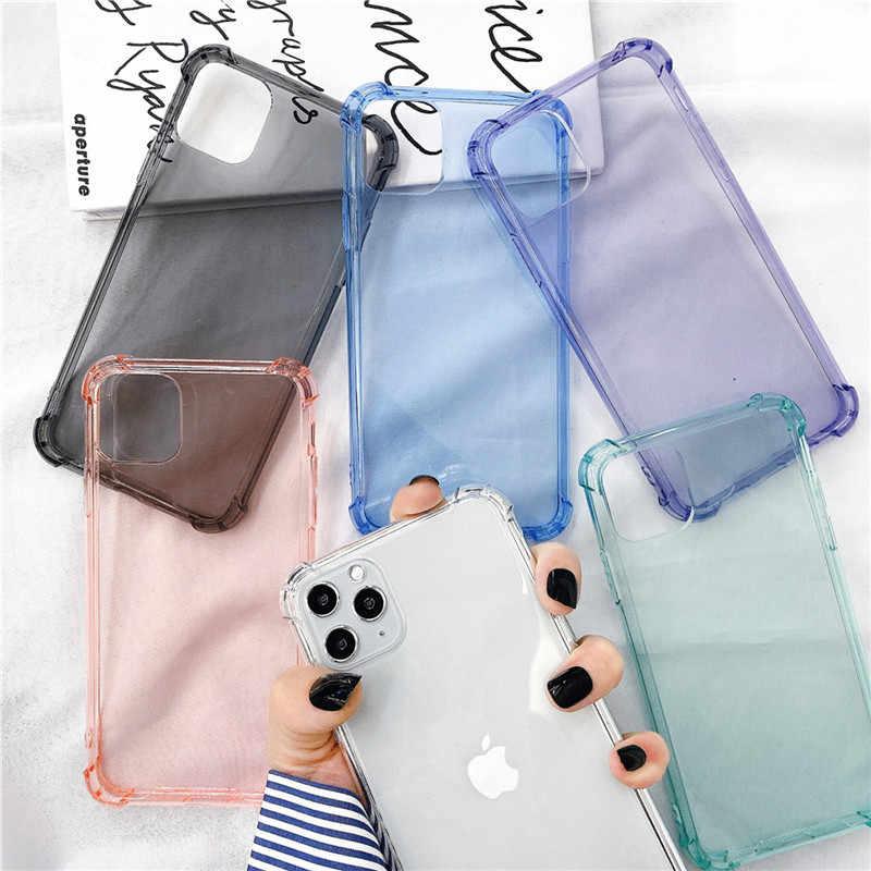 Lovebay עמיד הלם שריון מקרה ברור עבור iPhone 11 פרו XS Max XR X 8 7 6 6s בתוספת רך TPU צבעוני צבעים בוהקים כרית אוויר כיסוי אחורי