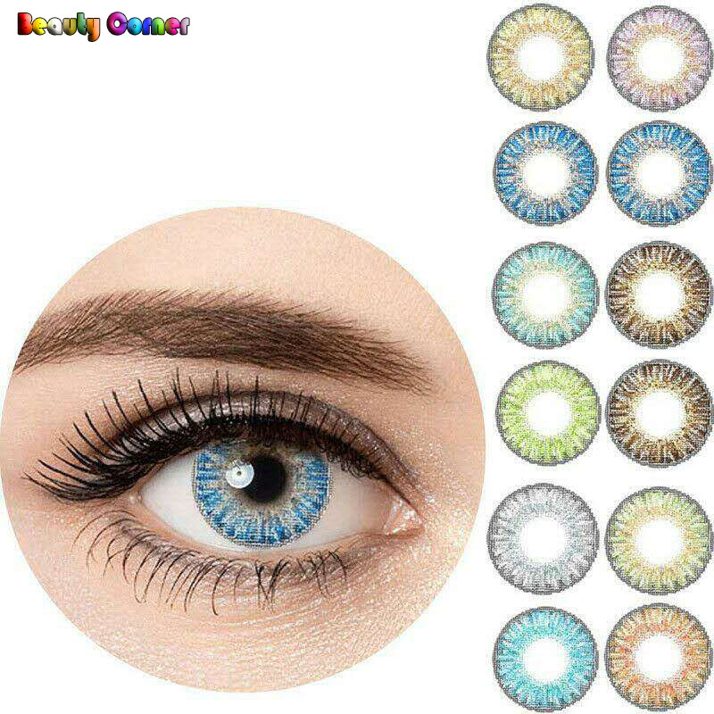 Beauty Coner 2pcs Pair Yearly Cycle Colored Contact Lenses Flashlook Cosmetic Makeup Soft Contact Lens For Eyes Contact Lenses Aliexpress