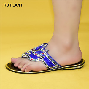 Image 4 - Zapatos elegantes de boda con diamantes de imitación a la moda para mujer, zapatos para fiesta de 2020, recién llegados especiales, zapatos nigerianos de Color dorado para boda