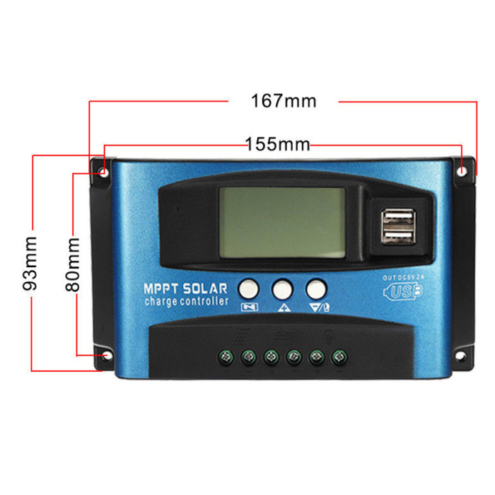 Hbee364d467cd47c7be3e1de73dc7ee0aG - 40A-100A MPPT Solar Panel Regulator Charge Controller 12V/24V Auto Focus Tracking Device JAN88