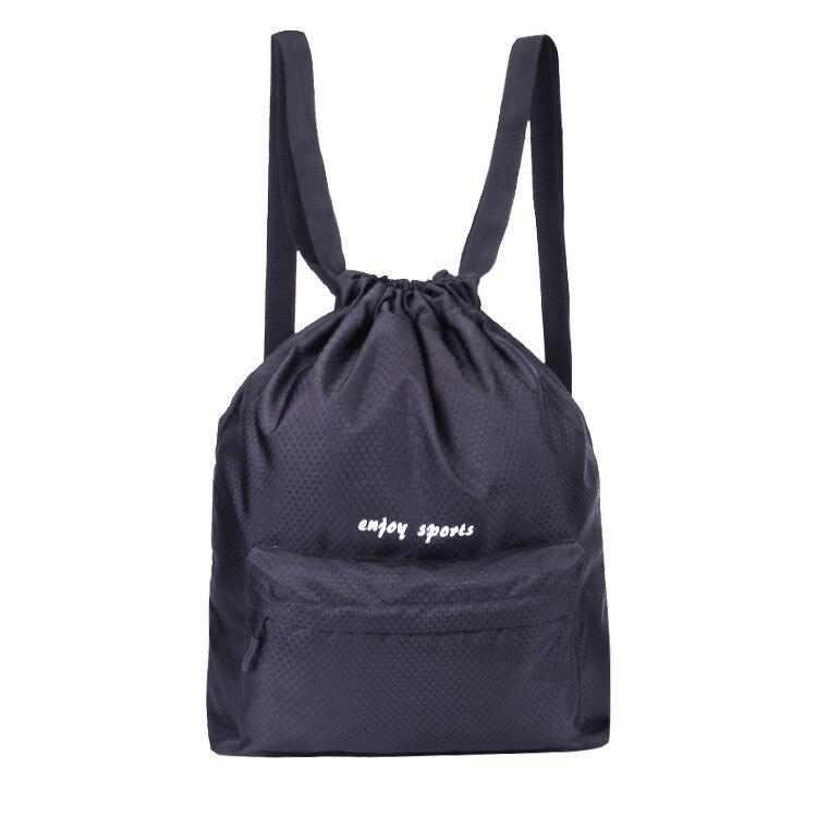 Customized Large Capacity Waterproof Drawstring Top Backpack Men And Women Sports Soccer Package Gym Bag Yuan Se Ze Bao Chang