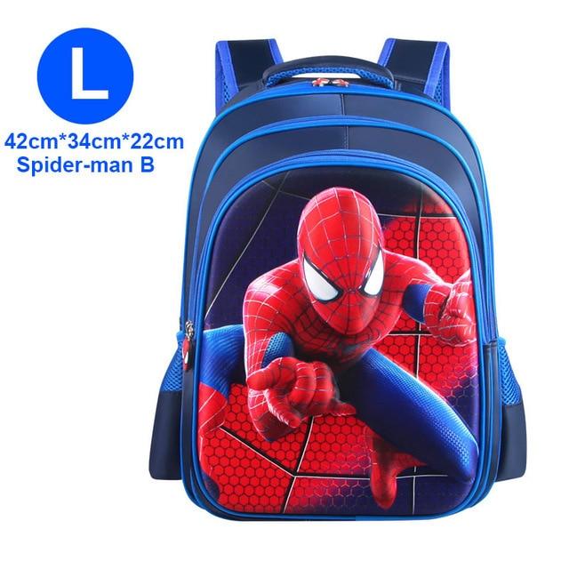 Children spiderman Backpacks Super heroes New School Bag 3D stereo Baby Boys Backpack Kids Children Cartoon School Bags