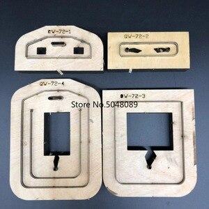 Image 2 - Japão lâmina de aço dados de couro molde documento leathercraft aleta bagagem tag oco perfurador molde diy mão ferramentas de couro dados corte