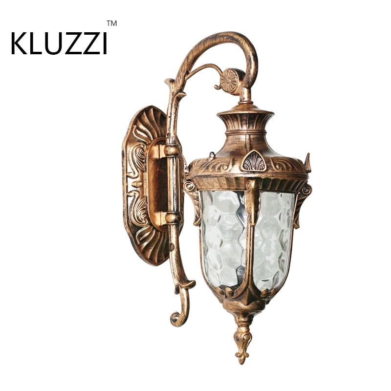 European Style Retro Outdoor Wall Light Balkon Sconce Lamp E27 Waterproof Garden Doorway Light Vintage Porch Lamp Black Bronze