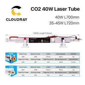 Image 5 - Cloudray Co2ガラスレーザーチューブ700ミリメートル40ワットガラスレーザー用CO2レーザー彫刻切断機