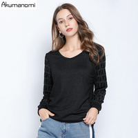 Autumn Blouse Women Plus Size 5xl l V neck Plaid Full Sleeve Casual Tops And Blouse Free Shipping Camisetas Verano Mujer 2019