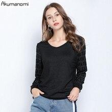 bluzki kobiety Plus Jesień