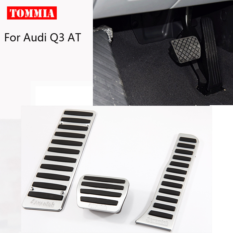 For <font><b>Audi</b></font> <font><b>Q3</b></font> AT 2013-2019 <font><b>Pedal</b></font> Cover Fuel Gas Brake Foot Rest Housing No Drilling Car-styling image