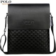 VICUNA POLO Classic Plaid Design Business Man Bag Vintage Brand Mens