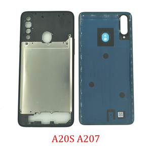 New Middle Frame Back Cover For Samsung A20s A207 A207F A207M Original Phone Housing Center Chassis Case Rear Battery Door Cover