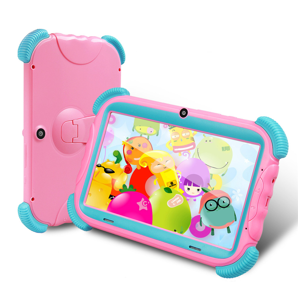 Tablet Pc  7 Inch Kids16GB ROM Android 8.1 Tablet With WiFi And Bluetooth Supported Micro SD Card Kid-Proof Case