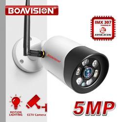 HD 1080P 5 Мп Wifi IP-камера наружная беспроводная Onvif полноцветная камера видеонаблюдения с ночным видением цилиндрическая камера безопасности с...