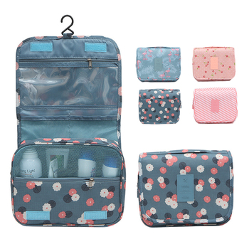 Makeup bag Large capacity Organizer cosmetic bag fashion print Pouch Travel Toiletry Tool storage bag Waterproof hook wash bag large capacity multilayer hook wash bag travel multifunction storage bag polyester accessories cosmetic makeup storage organizer