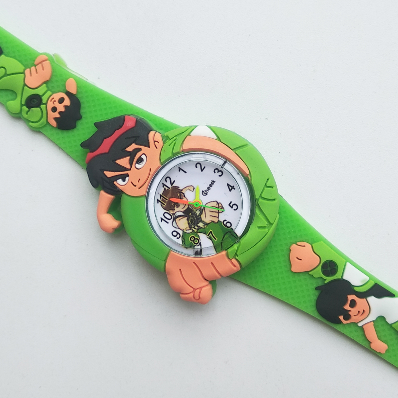 Dropshipping Kids Watches Life Waterproof Silicone Handsome Cartoon BEN 10 Watch Boy Clock Fashion Children Electronic Watch